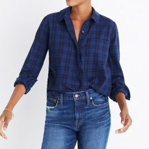 Madewell Medium Wrap Front in Arion Plaid